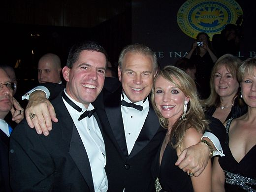 Mayor Dean DePiero , Governor Ted Strickland, and Kathleen Cochrane at the Governor's Inaugural Ball in January 2007.
