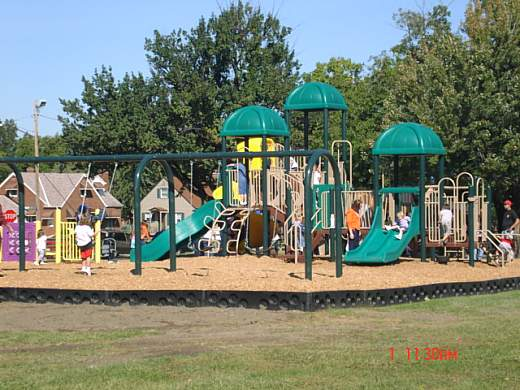With the support of Mayor DePiero, the new playground was conceived by former Ward 8 Councilman Anthony Zielinski and funded through the efforts of non-profit Parma Area Redevelopment Corp, Wal-Mart and Parmatown Mall.