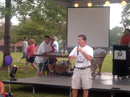 As the host city Mayor, Dean addressed the crowd at Tri-C during the 2006 American Cancer Society Relay For Life, held July 14 through 15.
